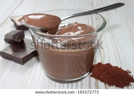 chocolate pudding - stock photo