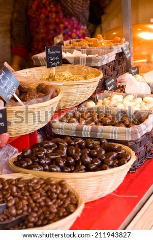 chocolate selection.  - stock photo