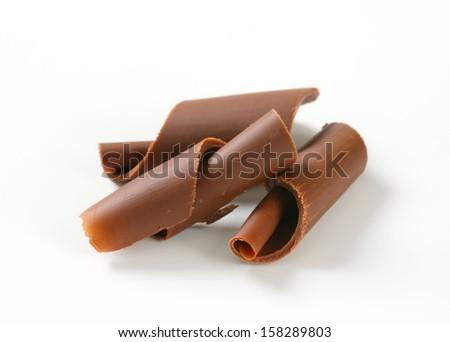 chocolate shavings  - stock photo