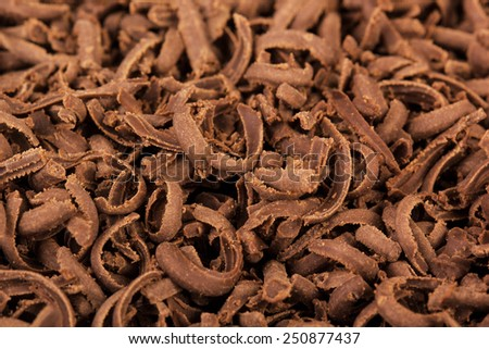 chocolate shavings background - stock photo