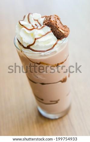Chocolate smoothies - stock photo