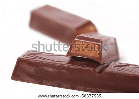 Chocolate sticks - stock photo