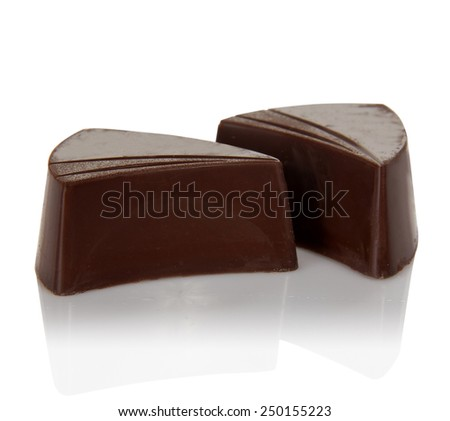 Chocolate sweets isolated on a white - stock photo