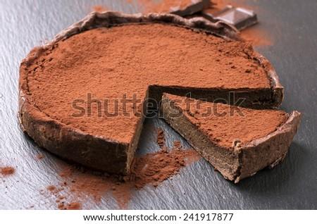 chocolate tarte - stock photo
