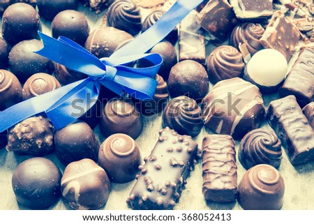 Chocolate/toned photo - stock photo