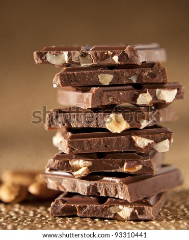 Chocolate Tower - stock photo