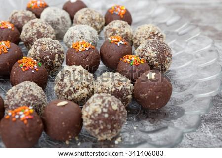Chocolate Truffles - stock photo