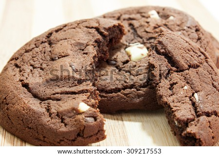 Chocolate wafers cookie brown crispy. - stock photo