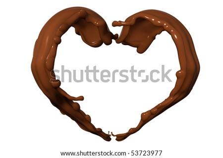chocolate wave - stock photo