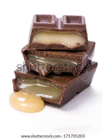 Chocolate with cream filling  - stock photo