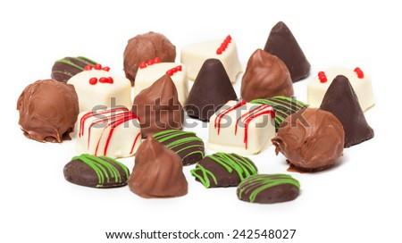 Chocolates, Confection , Pralines - stock photo