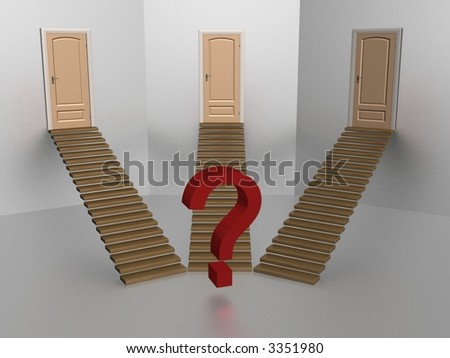 Choice of one road from three. - stock photo