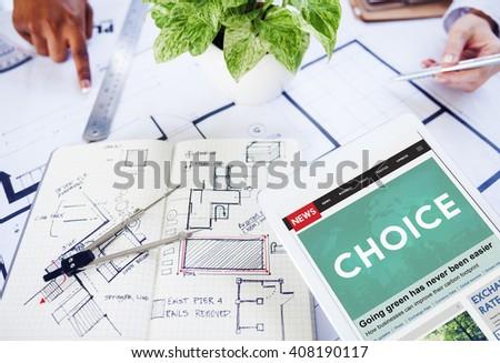 Choice Option Selection Decision Concept - stock photo