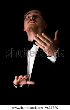 Choir conductor - stock photo