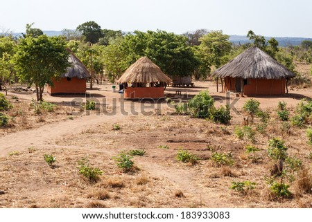 CHOMA, ZAMBIA - OCTOBER 14 2013: Local people go about day to day life in Choma Village - Zambia, Africa - stock photo