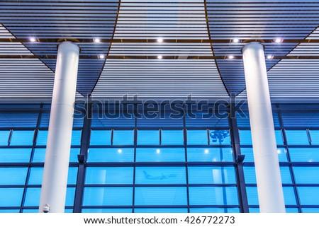 chongqing airport - stock photo
