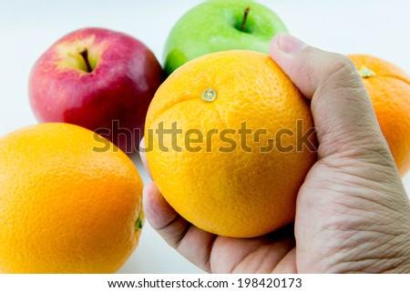 Choose fruit - stock photo