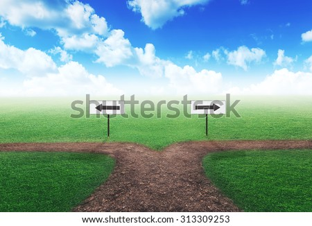 Choosing the right way - stock photo