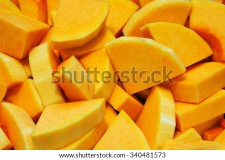 chopped butternut squash background - stock photo