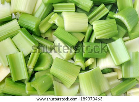 chopped celery for  background  uses - stock photo