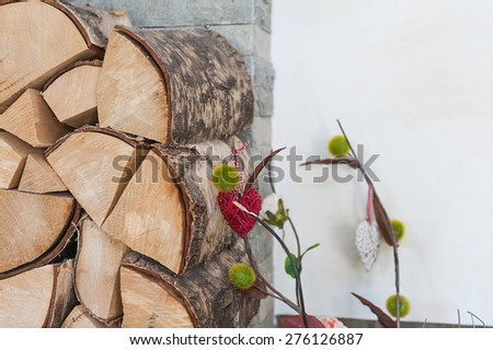 Chopped firewood - stock photo
