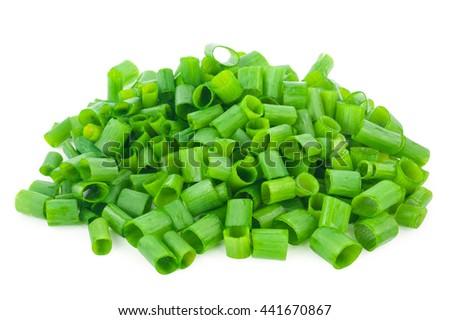 chopped green onions - stock photo