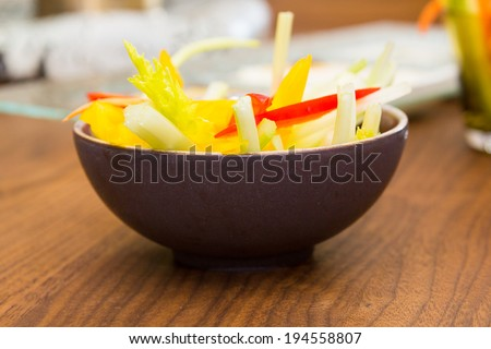 Chopped vegetables for salad - stock photo