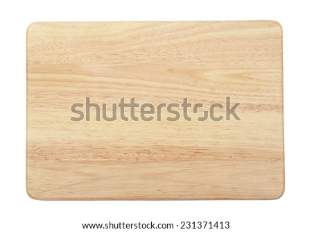 Chopping board isolated on white background. - stock photo
