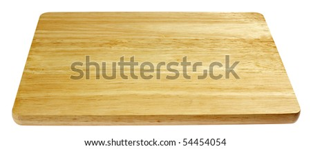 chopping board,isolated on white with clipping path - stock photo