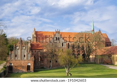Chorin Abbey, Barnim, Brandenburg, Germany - stock photo
