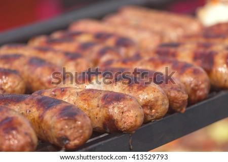 Chorizo sausages  - stock photo
