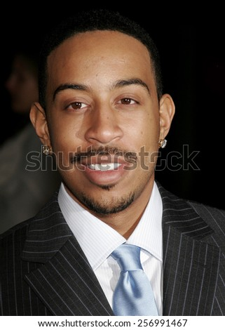 Chris Bridges aka Ludacris at the Paramount Pictures Hosts 2007 Golden Globe Award After-Party held at the Beverly Hilton Hotel in Beverly Hills on January 15, 2007. - stock photo