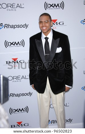CHRIS BROWN at music mogul Clive Davis' annual pre-Grammy party at the Beverly Hilton Hotel. February 7, 2006  Beverly Hills, CA  2006 Paul Smith / Featureflash - stock photo