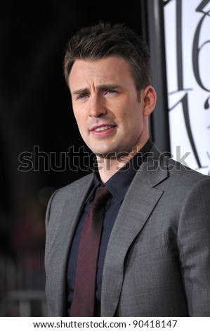 "Chris Evans at the Los Angeles premiere of his new movie ""What's Your Number?"" at the Regency Village Theatre, Westwood. September 19, 2011  Los Angeles, CA Picture: Paul Smith / Featureflash - stock photo"