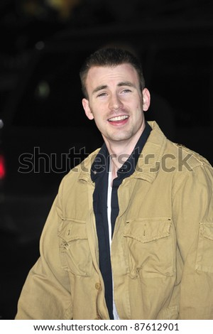 "Chris Evans at the premiere of ""10,000 BC"" at the Grauman's Chinese Theatre, Hollywood. March 5, 2008  Los Angeles, CA Picture: Paul Smith / Featureflash - stock photo"