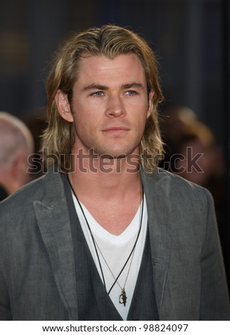 Chris Hemsworth arriving at The Hunger Games Premiere, at the 02 Arena, London. 14/03/2012 Picture by: Simon Burchell / Featureflash - stock photo