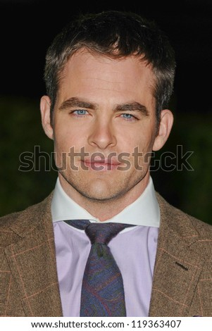 """Chris Pine arriving for the """"Rise of the Guardians"""" premiere at the Empire Leicester Square, London. 15/11/2012 Picture by: Steve Vas - stock photo"""