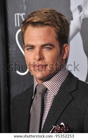 "Chris Pine at the Los Angeles premiere of his new movie ""This Means War"" at Grauman's Chinese Theatre, Hollywood. February 8, 2012  Los Angeles, CA Picture: Paul Smith / Featureflash - stock photo"