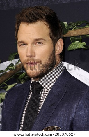 Chris Pratt at the World premiere of 'Jurassic World' held at the Dolby Theatre in Hollywood on June 9, 2015.  - stock photo