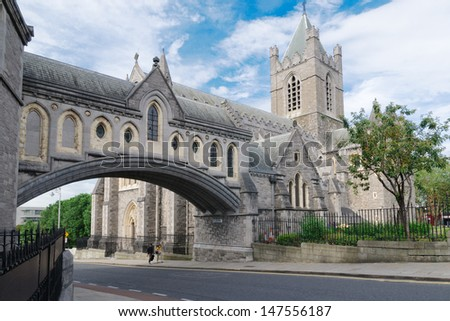 Christ church cathedral, dublin, ireland - stock photo