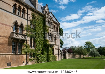 Christ Church College ,Oxford ,England - stock photo