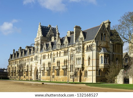 Christ Church College, Oxford, Oxfordshire UK - stock photo