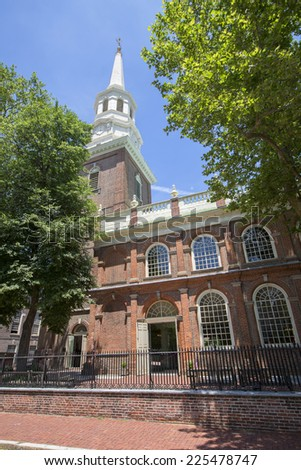 Christ Church in Philadelphia, Pennsylvania, America. - stock photo