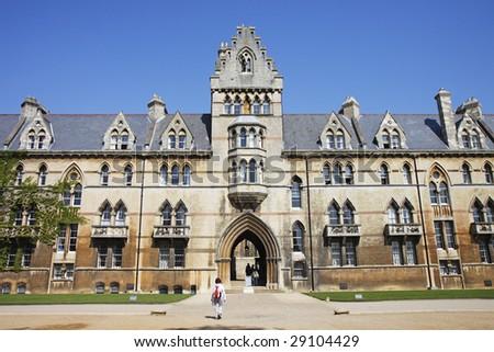 Christ Church University, Oxford City, England - stock photo