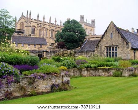 Christ Church War Memorial Gardens, Oxford, England - stock photo