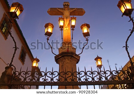 Christ of the Lanterns in Cordoba - Spain - stock photo