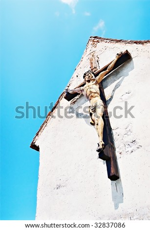 christ's on the cross - stock photo