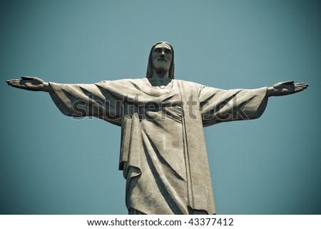 Christ the Redeemer Rio De Janeiro Brazil - stock photo