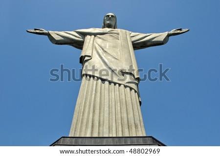 Christ the Reedemer statue, Corcovado, Rio de Janeiro, Brazil - stock photo