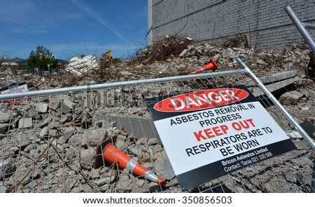 CHRISTCHURCH - DEC 04 2015:Damaged building in Christchurch.Over 1000 buildings in the CBD, about a third of the total buildings within four avenues, were demolished following Christchurch earthquakes - stock photo
